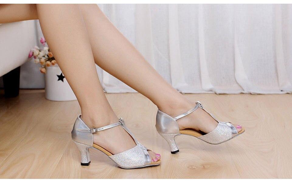 MoveFun New Glitter Women Latin Dance Shoes Tango Salsa Party - Kondisko - Foto 2