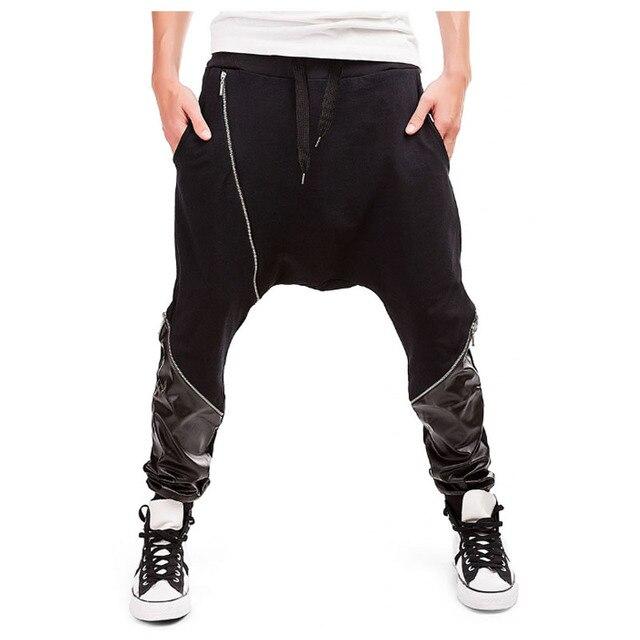 ef9b90786 Hombres Joggers 2018 marca Pantalones masculinos hombres Pantalones Casual  Pantalones chándal lucha piel Pantalones Hombre Harem