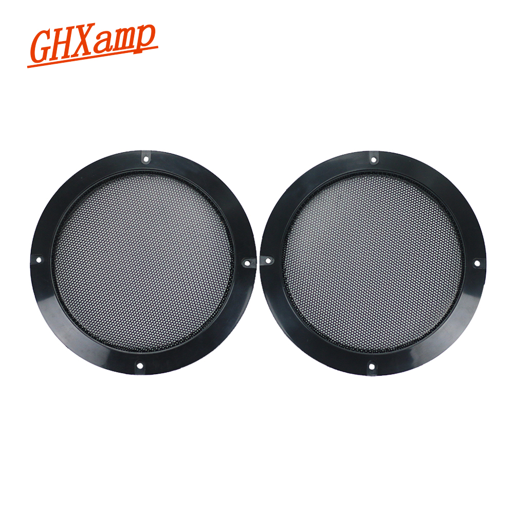 GHXAMP 2PCS 6.5 inch Black Speaker Grill mesh Car dedicated Mesh enclosure Subwoofer Speaker Grilles Cover Protective net