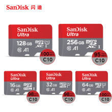 SanDisk Micro SD Card 100MB/s 256GB 128GB 64GB 32GB 16GB U3/U1 V30 A1 Class 10 Memory Card SDXC SDHC microsd Flash TF Card