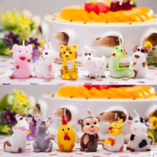 Birthday Candle Children Smokeless Handmade Animal Candle Factory Direct Sales Wedding Decor Scented Candle Making
