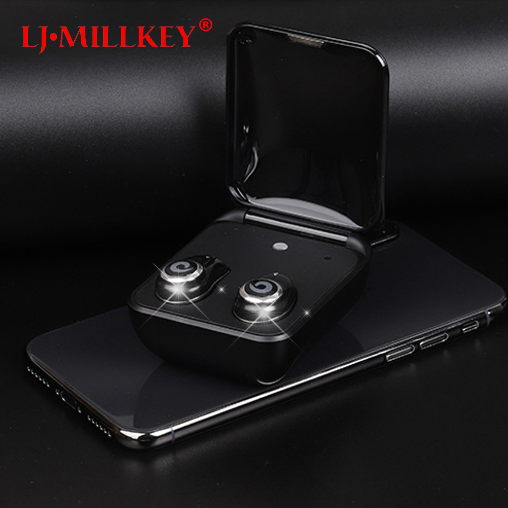 Bluetooth Earphone with Mic Mini Touch Control Hifi Wireless Headset TWS Wireless Earbuds for Phone with Charger Box YZ148