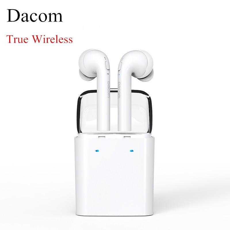 Prix pour D'origine Dacom TWS Vrai sans fil Bluetooth écouteur pour iPhone 7 7 plus Écouteurs Casque Double mini Jumeaux Écouteurs Pour Android