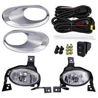 Yellew Color Fog Light For Honda CR V CRV 2010 2011 Car Lights Halogen lamp ABS 4300K 12V 55W Plating Cover Automobile Styling