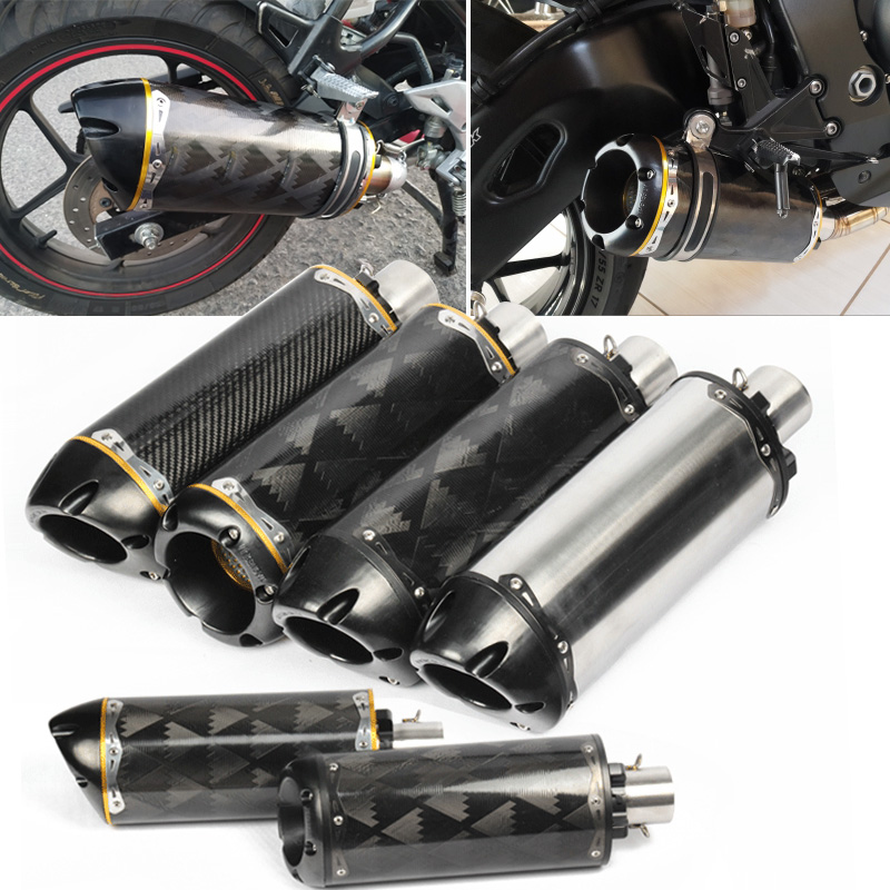 two brothers exhaust pipe motorcycle cnc real carbon muffler scooter db killer for nc750x r1 r6 fz8 z650 gsxr750 gsxr1000
