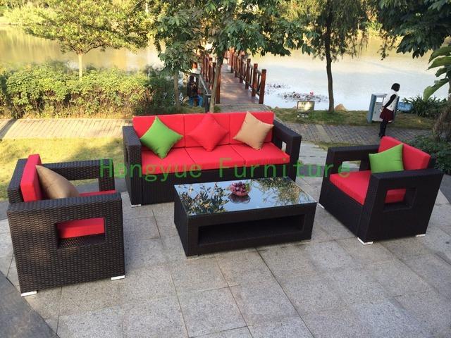 De la rota de porcelana jardín muebles sofá conjunto, sofá muebles de exterior