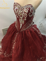 Bealegantom 2018 Stock Y Ship 1 2 Days Ball Gown Quinceanera Dresses Beaded Sequined Sweet 16 Dress For 15 Years QA1514