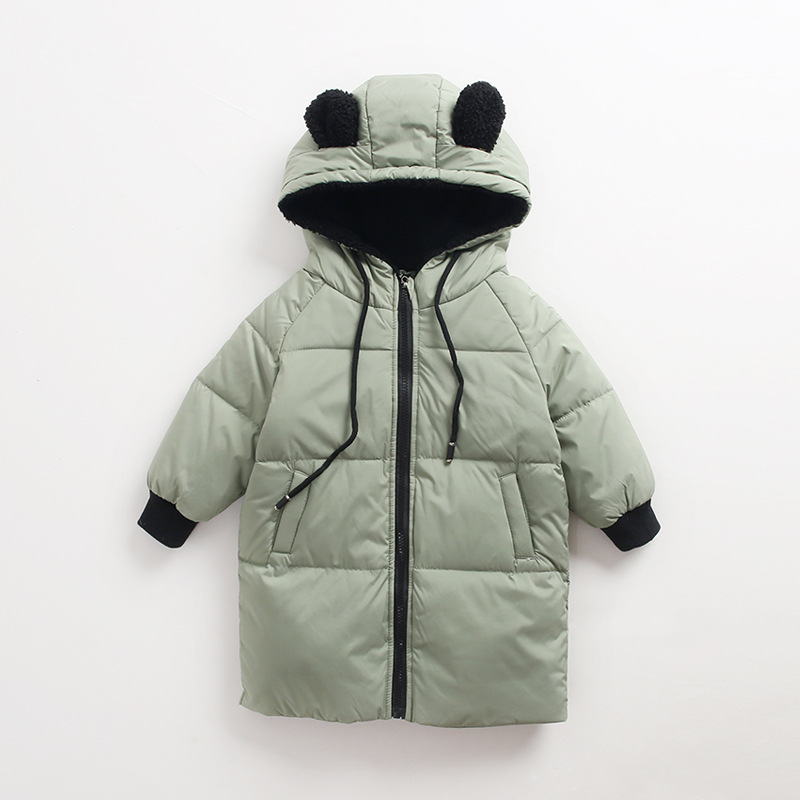 Baby Girls Long Clothes Boys Jackets Winter Girls Overcoats Cute Hooded Down Fashion Thick Kids Coat for Boys