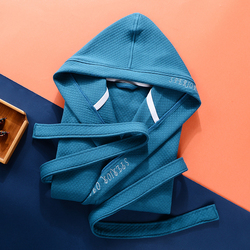 Зимний мужской хлопковый банный халат с капюшоном, Мужское ночное белье, кимоно, теплая длинная домашняя одежда для пар, махровый мужской Ха...