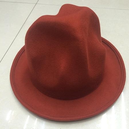 Фирменная Новая модная женская и мужская шерстяная фетровая горная шляпа Фарелл Вильямс Вествуд Стиль Знаменитостей Новинка шляпа в стиле Буффало - Цвет: Orange
