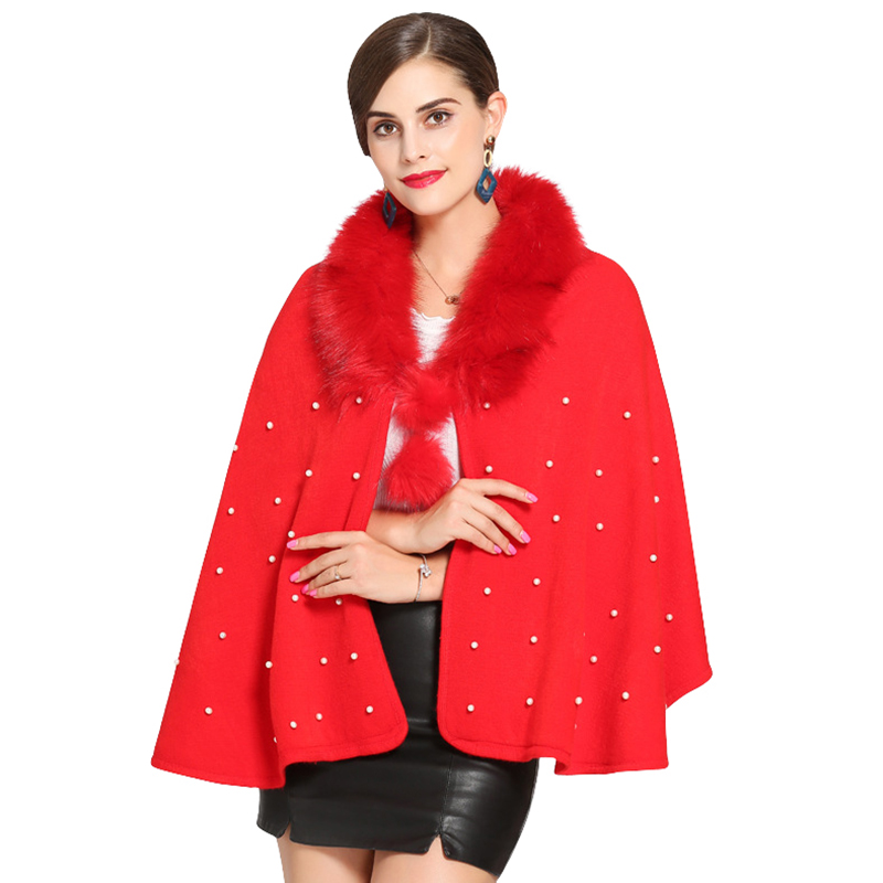 Купить с кэшбэком Autumn Winter Women Faux Fur Bridal Wedding Jacket Wrap Shawl Stole Cape Cloak Bolero Wedding Accessories