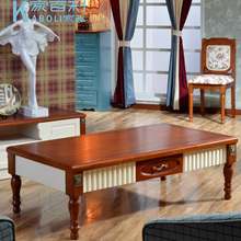 European-style wood small apartment living room coffee table simple and stylish casual paint teasideend