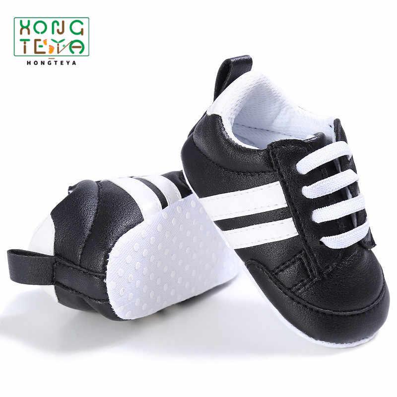 PU หนังลายเด็กกีฬารองเท้าผ้าใบทารกเด็กวัยหัดเดิน Soft Anti-SLIP ทารกแรกเกิดเด็กชายหญิง firstwalkers