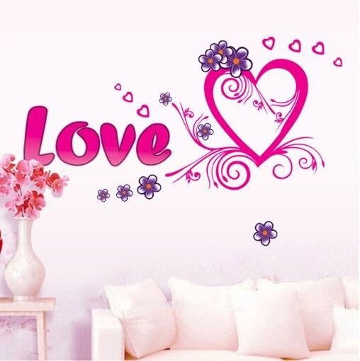 Aliexpress com Compre Grande rosa do amor do coração  ~ Quarto Rosa Romantico