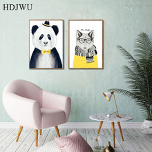 Minimalist Animal Abstract Color Nordic Printing Posters Art Home Wall Pictures  for Living Room DJ07