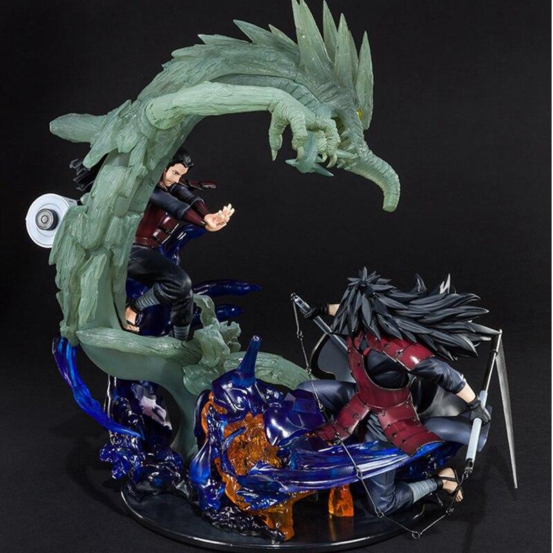 NEW Anime Naruto Shippuden Uchiha Madara And Senju Hashirama PVC Action Figure Collectible Model Toys For Children Gift