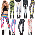 FEDEX Fashion Women mixed style Adventure Time galaxy prints elastic bodybuilding sexy Girl Leggings Pants 50pcs/lot