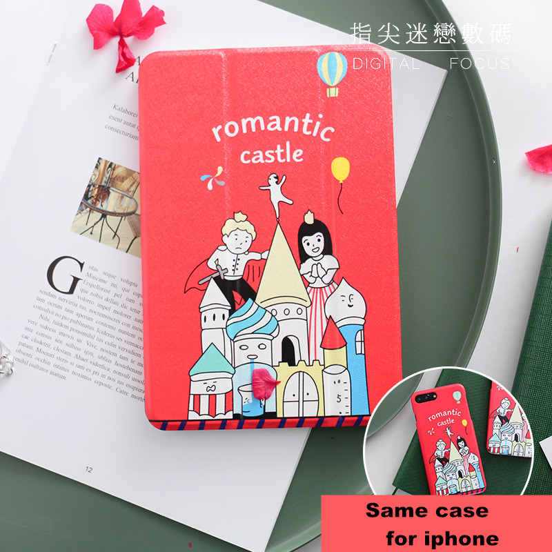 Romantic Castle Magnet PU Leather Case Flip Cover For iPad Pro 9.7 10.5 Air Air2 Mini 1 2 3 4 Tablet Case For  ipad 9.7 2017 mimiatrend tige for apple ipad air 1 2 air2 flip pu leather case smart cover for new ipad 9 7 2017 tablet case for ipad pro 9 7