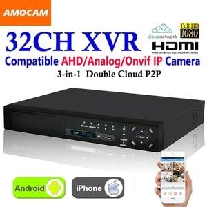 New 32CH Super XVR HD 1080P Recording 3-in-1 4*HDD port DVR CCTV Surveillance Video Recorder HDMI for AHD/Analog/Onvif IP Camera