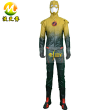 The Flash Hero Reverse Flash Cosplay Costume Leather Jump Suits Customized Made Fast Shipping In High Quality