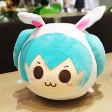 Japan Anime Hatsune Miku Figure plush pillow soft pillow for  Kids  child Juguetes  party christmas gifts Free Shipping