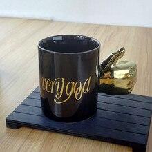 Кружка большой палец Золотая Серебряная ручка кружка verygood буква чашка, кофейная чашка бокал для вина чайная чашка для офиса семья подарочное свадебное украшение 5ZDZ775