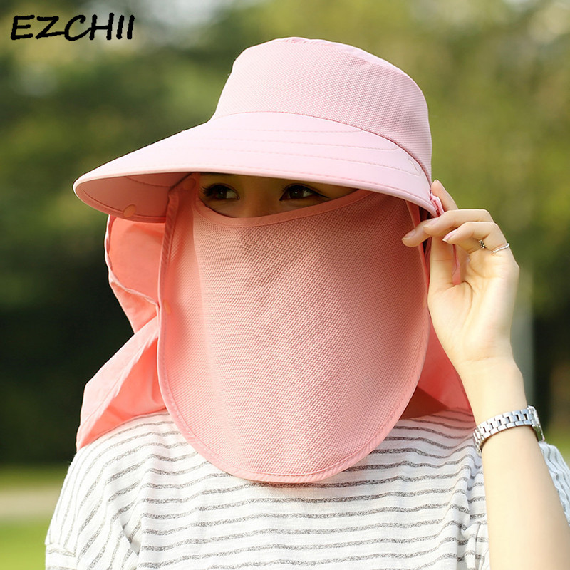 Home & Garden The Best Summer Hats For Women And Men Summer Beach Sun Wide Brim Uv Ponytail Outdoor Hunting Fishing Hiking Hat Gift Support Dropship Less Expensive