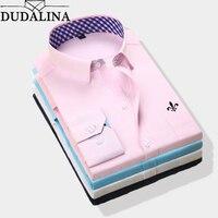 DUDALINA 2019 новое классическое платье рубашка мужская весна осень длинный рукав твил формальные деловые мужские рубашки