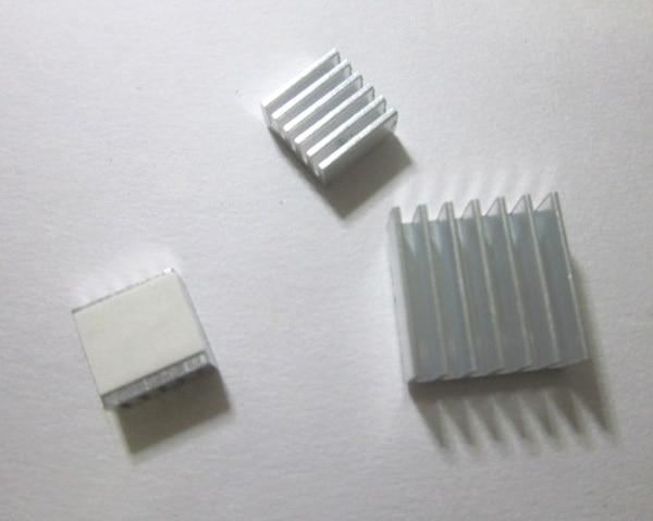 3pcs  Adhesive Raspberry Pi Heatsink Cooler Pure Aluminum Heat Sink Set Kit Radiator For Cooling Raspberry Pi 2 B Free Shipping