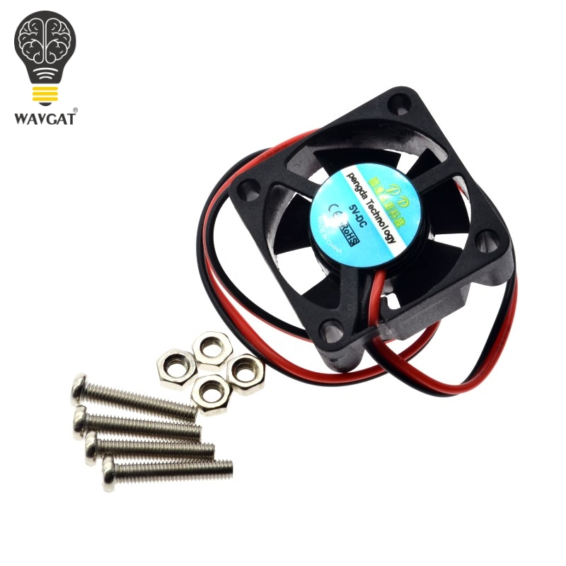 WAVGAT Raspberry PI Fan, Active Cooling Fan For Customized Acrylic Case / 5V Plug-in And Play/Support Raspberry Pi Model B Plus