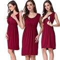 Emoción mamás v-cuello de la ropa de verano de maternidad ropa para mujeres embarazadas vestidos de maternidad lactancia materna enfermería embarazada dress