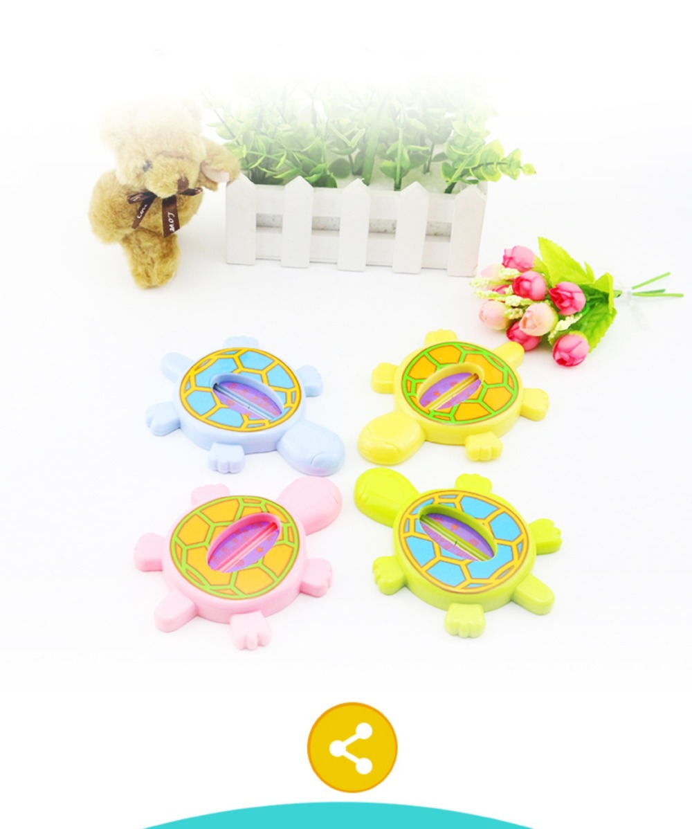 Infant Cute Dolphin Shaped Bright Color Thermometer Bathing Water Thermometer Bathing Toy Pink Baby Bath Thermometer