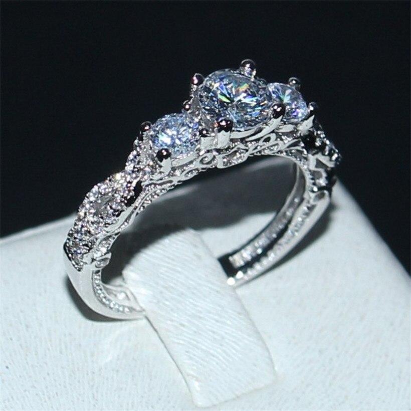 Verlobung Vecalon 6 Stil Eternity Versprechen Ring Aaaaa Zirkon Stein 925 Sterling Silber Hochzeit Band Ringe Für Frauen Männer Schmuck