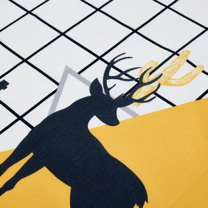 Image 5 - Parkshin Modern Cartoon Deer Tablecloth Home Kitchen Rectangle Decorative Table Cloths Party Banquet Dining Table Cover 4 Size