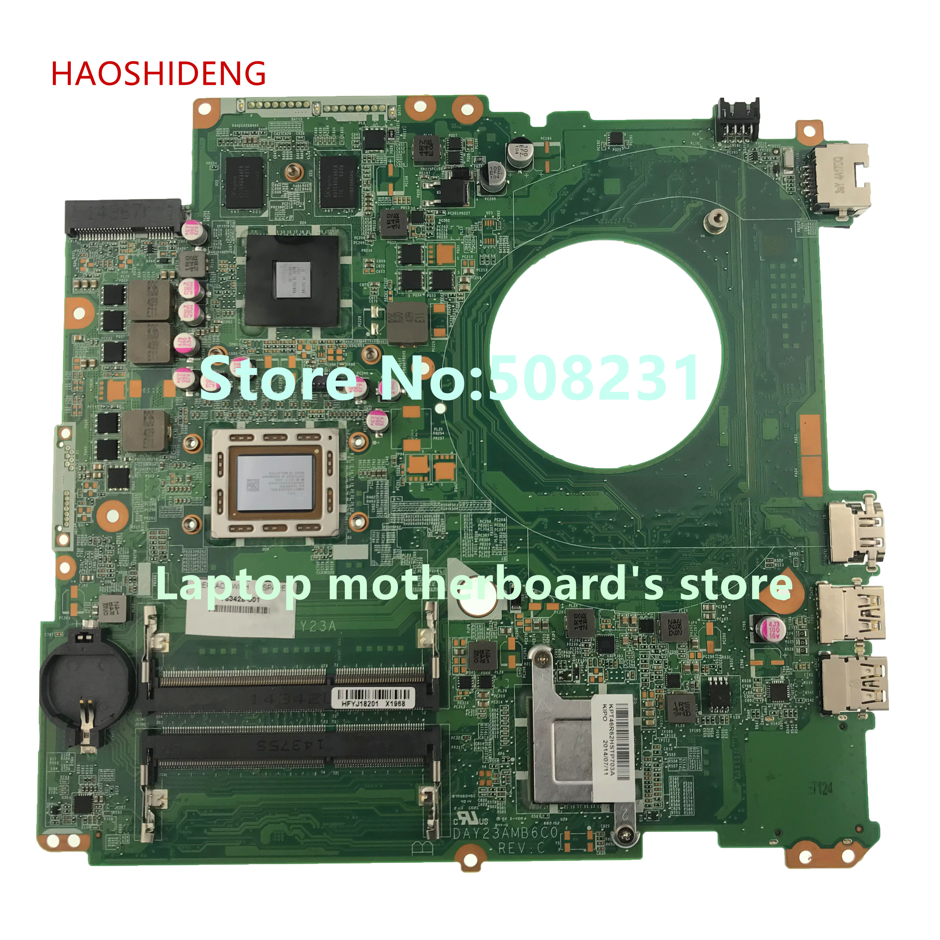 HAOSHIDENG 763428-501 763428-001 DAY23AMB6F0 for HP PAVILION 17 17-F 17Z-F laptop motherboard 260M/2GB A10-5745M fully Tested haoshideng 809985 601 809985 001 laptop motherboard for hp pavilion 17 p 17z p notebook day21amb6d0 a76m a10 7300 fully tested