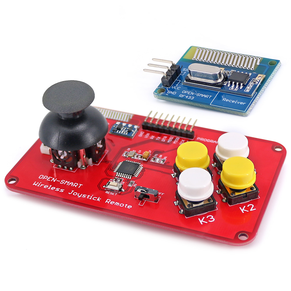 Image 3 - PS2 Joystick Keypad RF 433MHz Wireless Joystick Game Remote Controller Module Transceiver Kit for Smart Car / 4 axis Aircraft-in Industrial Computer & Accessories from Computer & Office