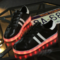 Led Sapatos 8 Cores Homens sapatos Luminosos LED Homens amantes Da Moda LED Light UP Sapatos para Adultos