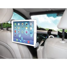 up to 11″ Universal 360 Degree Rotating Backseat Holder Adjustable Tablet Car Headrest Grip Mount for iPad Pro 10.5 2017 Huawei