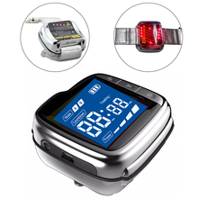 High Blood Pressure Diabetes Cholesterol Rhinitis Treatment 650nm Laser Therapy Physiotherapy Health Care Diabetic Wrist Watch