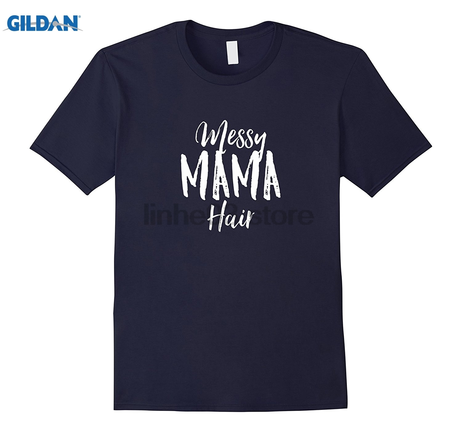 GILDAN Messy Mama Hair T-Shirt - Funny Mother Gift Hairstyle Tee summer dress T-shirt ...