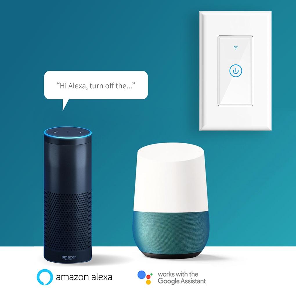 New Meross MSS510 Smart Wi-Fi Wall Phone Remote Control Wireless Touch Light Switch for Amazon Alexa Google Assistant IFTTT 140f1142 devireg smart интеллектуальный с wi fi бежевый 16 а