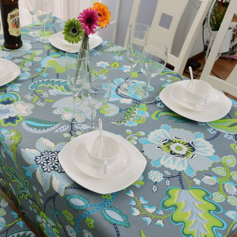 Romantic Vintage Floral Tablecloths Elegant Western Tablecloths Modern  Table Covers For Kitchen Table Fashion Table Overlays ...