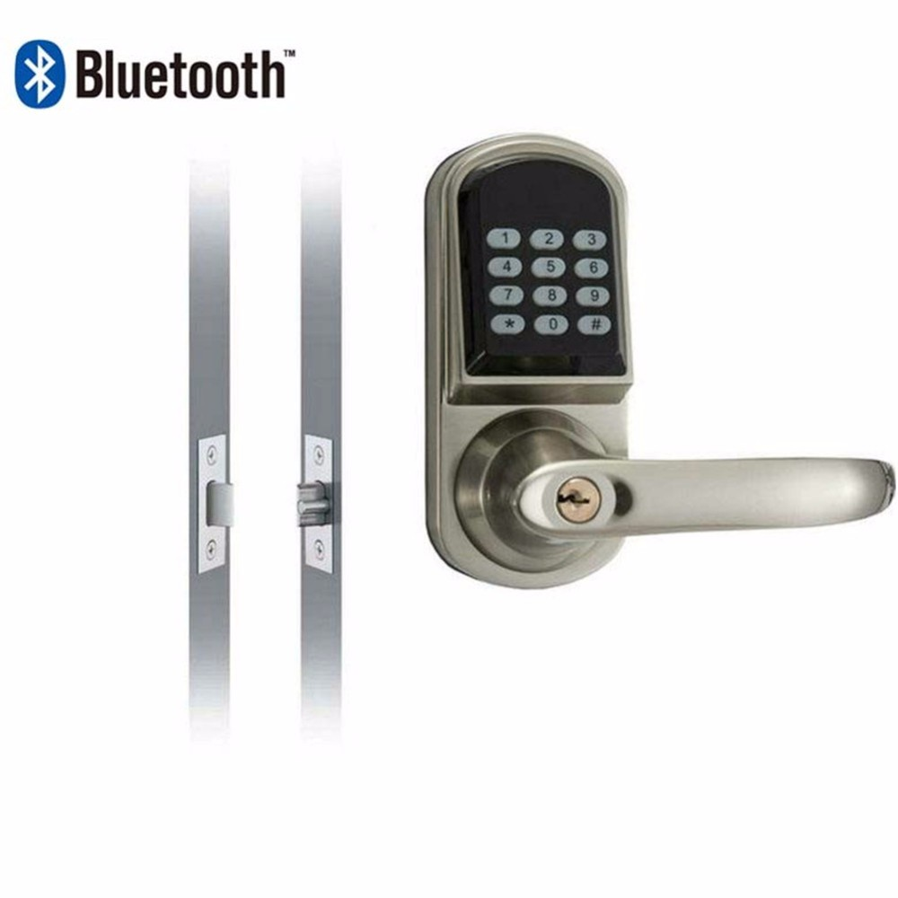 US $154 3 17% OFF|Smartphone Bluetooth Entrance Smart Locks with  Combination OS8015BLE Stain Chrome-in Locks from Home Improvement on  Aliexpress com |