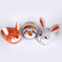 Women Slippers Plush Cartoon Zootopia Judy Nick Style Men Slippers Indoor Winter Warm Shoes