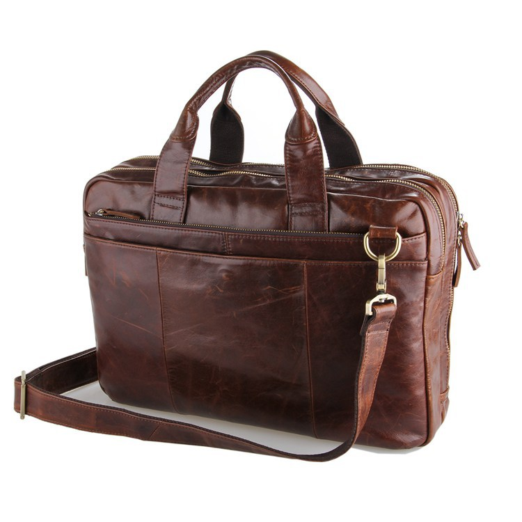 Nesitu Good Quality Vintage Men Genuine Leather Briefcase Messenger Bags Portfolio Business Travel 14'' Laptop Bag #MW-J7092-2 цена и фото