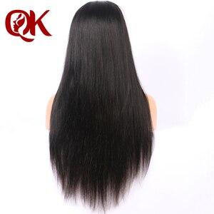 Image 5 - QueenKing שיער שיער טבעי פאות PrePlucked עבור שחור נשים רמי ברזילאי ישר תחרה מול פאה עם בייבי שיער מולבן קשרים