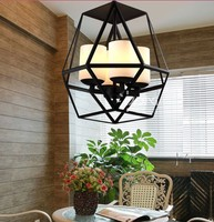 American Country Vintage Cage Pendant Lamp Nordic RH Loft Coffee Bar Hanglamp Restaurant Pendant Light Fixtures Brief E27 Lamps