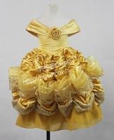 Top Quality Princess kids Belle Cosplay Costume Dress Costume Halloween Costumes For Girls Children Dress