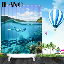 Sexy Shower Curtain Pattern Custom Shower Curtain Waterproof Bathroom Fabric 180x180cm Sea Scenic Shower Curtain For Bathroom