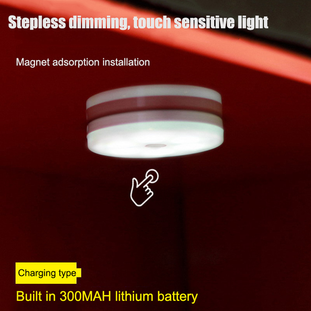 Body Automatic Sensor Light Rechargeable LED Touch Lamp Magnetic Night Lighting For Living Room Bedroom Toilet